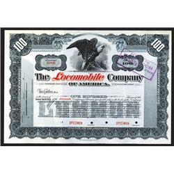 Locomobile Company of America Specimen Shares. 1910 or so.