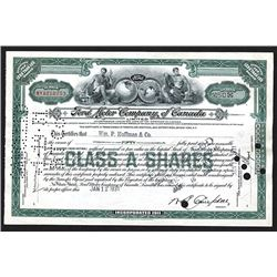 Ford Motor Company of Canada, Limited. Issued Shares. 1931.