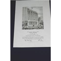American Stock Exchange Unframed Membership Certificate.