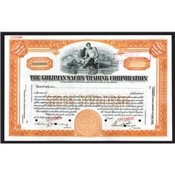 Goldman Sach's Trading Corporation Specimen Shares. 1928.