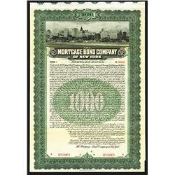 Mortgage-Bond Company of New York Specimen Bond.