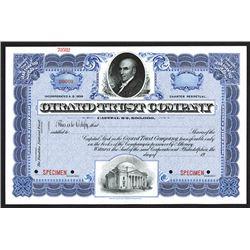 Girard Trust Company Specimen Shares. CA 1900.