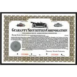 Guaranty Securities Corporation Specimen Bond. CA 1920s 0r 1930s.
