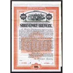Shreveport Brewery 1905 Specimen Bond.