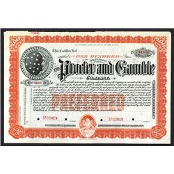 Procter and Gamble Co., ca.1900 Specimen Stock Certificate.