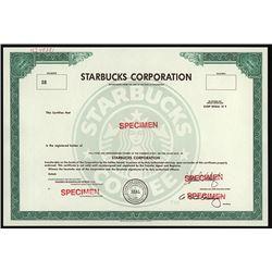 Starbucks Corporation Possible IPO Specimen Stock Certificate.