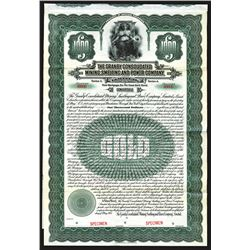 Granby Consolidated Mining, Smelting and Power. Specimen Bond. 1913.