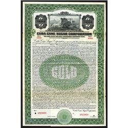 Cuba Cane Sugar Corp. Specimen Bond.
