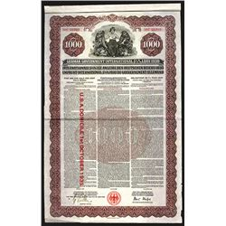 German Government International 5 1/2% Loan of 1930.