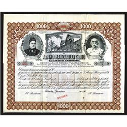 Alvino Manzanilla Canto Sociedad Anonima. 1904.
