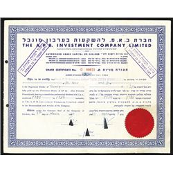 A.P.B. Investment Co. Ltd., 1945-1952 , Share Certificate Group.