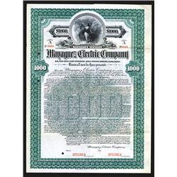 """Mayaguez Electric Co. 1901 """"Mayaguez Division"""" Specimen bond."""