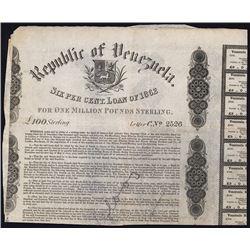 Republic of Venezuela, 6% Sterling Loan of 1862.