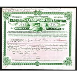 Lamport and Holt Limited Issued Share Certificates. 1912-14.
