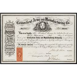 Connecticut Arms and Manufacturing Co. Stock Certificate Gun Manufacturer.