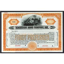 Remington Arms Company, Inc. ND ca.1900-1920 Specimen Stock Certificate.