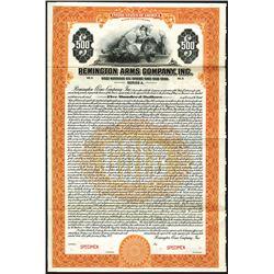 Remington Arms Company, Inc., 1922 Specimen Bond.