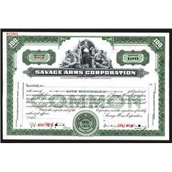 Savage Arms Corp. 1915, Specimen Stock Certificate.