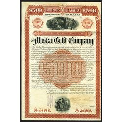 Alaska Gold Company, 1888 Issued 7% Gold Coupon Bond.