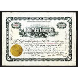 United Yukon Company, Ltd. 1899 Stock Certificate.
