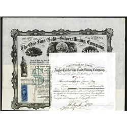 California Mining Stock and Bond Pair.