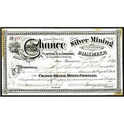 Chance Silver Mining Issued Shares. 1874.
