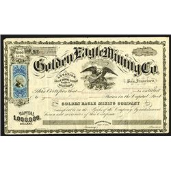 Golden Eagle Mining Issued Shares. 1872.
