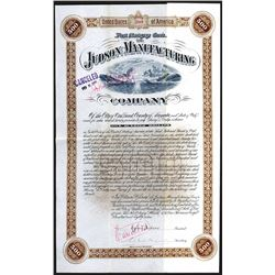 Judson Manufacturing Co., 1887 $500 6% Gold Bond Signed by Egbert Judson.