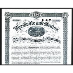 Bodie & Benton Railway & Commercial Co. Issued Bond.