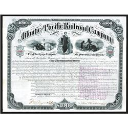 "Atlantic and Pacific Railroad Co., 1880 ""Western Division"" Bond."