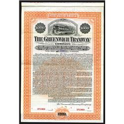 Greenwich Tramway Co., 1901 Specimen Bond.