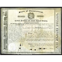 Hartford, Providence and Fishkill Co., 1850 7% Bond.