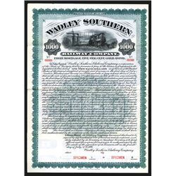 Wadley Southern Railway Co., 1906, $1000 Specimen Bond.