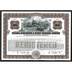 Chicago, Burlington & Quincy Railroad Co., 1945 Specimen Bonds.