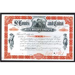 St. Louis & Cairo Railroad Proof Shares. 1880s.