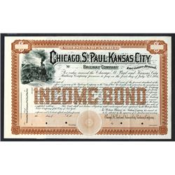 Chicago, St.Paul and Kansas City Railway Co., 1887 Specimen Income Bond.