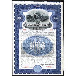 Houston and Texas Central Railroad Co. 1910 Bond.