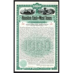 Houston East and West Texas Railway Co., 1889 Issued Bond.