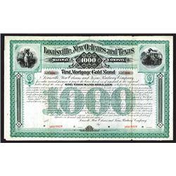 Louisville, New Orleans and Texas Railway Co., 1886 Specimen Bond.