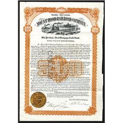 Mount Hood Railroad Co., 1907 Gold Bond.