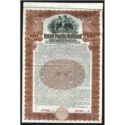 Union Pacific Railroad Co. 1908 Specimen Bond.