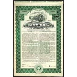 Everett-Tacoma Railway Co., 1910 Specimen Bond.