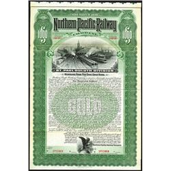 Northern Pacific Railway Co., St.Paul-Duluth Division, 1900 Specimen Coupon Bond.