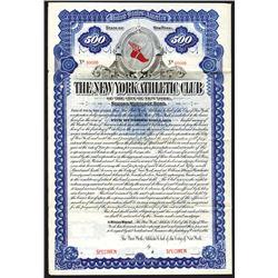 New York Athletic Club, 1895 Specimen Bond.