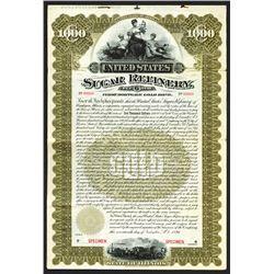 United States Sugar Refinery, 1896 Specimen Bond.