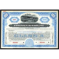 Godschaux Sugars, Inc. Specimen Shares. 1909.