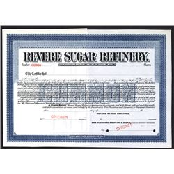 Revere Sugar Refinery, 1907 Specimen Stock Certificate.