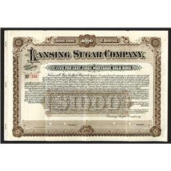Lansing Sugar Company, 1901 Specimen Bond.