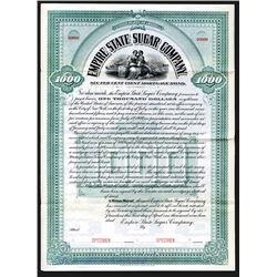 Empire State Sugar Co. 1900 Specimen Bond.