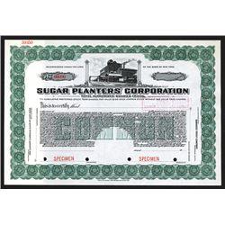 Sugar Planters' Corp., ca. 1917 Specimen Stock Certificate.